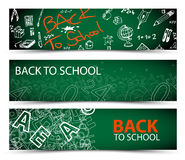 Back to School vector banners Stock Images