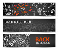 Back to School vector banners Stock Photo