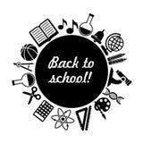 Back to school vector black background stock illustration
