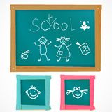Back to school vector board Royalty Free Stock Photos