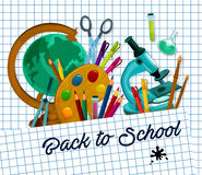 Back to School vector checkered page poster Stock Photos