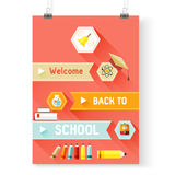 Back to school vector, design elements Royalty Free Stock Photos