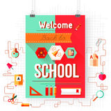 Back to school vector, design elements Stock Image