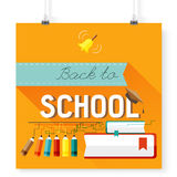 Back to school vector, design elements Royalty Free Stock Image