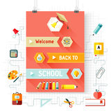 Back to school vector, design elements Stock Photography