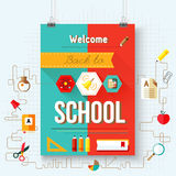 Back to school vector, design elements Royalty Free Stock Images