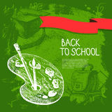 Back to school vector design Royalty Free Stock Image