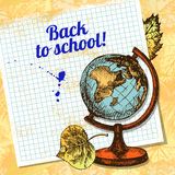 Back to school vector design Royalty Free Stock Photography