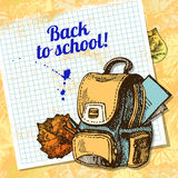Back to school vector design Stock Image