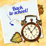 Back to school vector design Stock Images