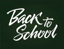 Back to School - vector drawn brush pen lettering Stock Photography