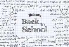 Back to School Vector education background Stock Image