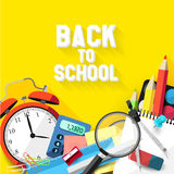 Back to school - Vector flat design illustration Royalty Free Stock Photos