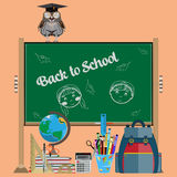 Back to school vector flat illustration Royalty Free Stock Photo