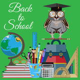 Back to school vector flat illustration Royalty Free Stock Photography