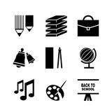 Back to school vector icons Royalty Free Stock Image