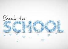 Back to school vector illustration Stock Image