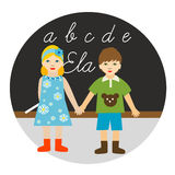 Back to school. Vector illustration Royalty Free Stock Images