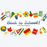 Back to school! Vector Illustration. Royalty Free Stock Photo