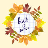 Back to school vector illustration. Stock Photos