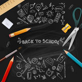 Back to school. vector illustration. Royalty Free Stock Photography