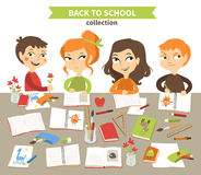 Back to school vector illustration. Stock Photography