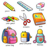 Back to school. Vector illustration of Cartoon Back to school vocabulary vector illustration