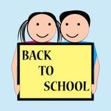 Back to school vector illustration Stock Photos