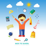 Back to school. Vector illustration. Back to school. Color vector illustration Stock Photography