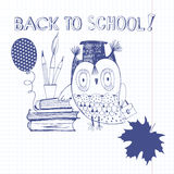 Back to School. Vector illustration for design painted by hand o Stock Images