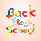 Back to school. Vector illustration. Stock Images