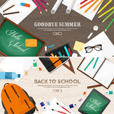 Back to school.Vector illustration.Flat style.Education and online courses, web tutorials, e-learning. Study,creative Royalty Free Stock Photos