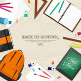 Back to school.Vector illustration.Flat style.Education and online courses, web tutorials, e-learning. Study,creative Stock Photo