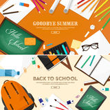 Back to school.Vector illustration.Flat style.Education and online courses, web tutorials, e-learning. Study,creative Stock Images