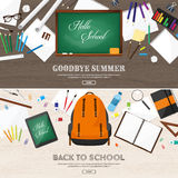 Back to school.Vector illustration.Flat style.Education and online courses, web tutorials, e-learning. Study,creative Royalty Free Stock Images