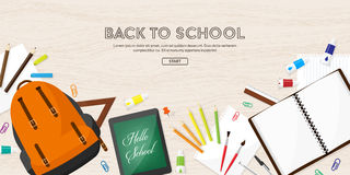 Back to school.Vector illustration.Flat style.Education and online courses, web tutorials, e-learning. Study,creative Stock Image