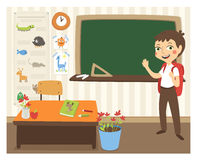 Back to school vector illustration. Royalty Free Stock Photos