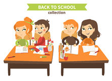 Back to school vector illustration. Royalty Free Stock Images