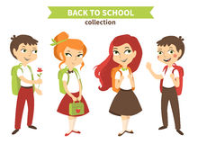 Back to school vector illustration. Stock Image