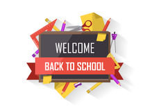 Back to school vector illustration Stock Photos