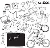 Back to school. Vector illustration of back to school theme, doodle style Royalty Free Stock Photography