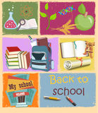 Back to school. Vector illustrations of school life stock illustration