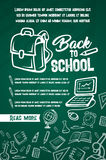 Back to School vector lesson supplies posters Royalty Free Stock Image