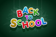 Back to School. Vector multicolored Back to School text vector illustration