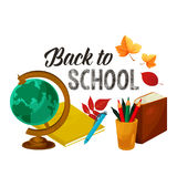 Back to School vector poster study stationery Royalty Free Stock Image