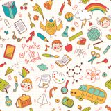 Back to school. Vector seamless pattern. Royalty Free Stock Photos
