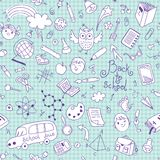 Back to school. Vector seamless pattern. Royalty Free Stock Photo