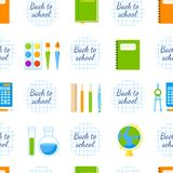 Back to school vector seamless pattern. Royalty Free Stock Image