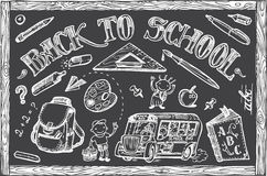 Back to school vector set Stock Images