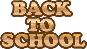 Back to School vector wood letters eps Royalty Free Stock Images